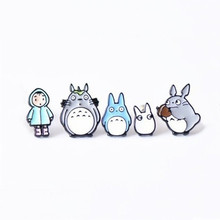 Free Shipping Cartoon Linda Totoro Jeans Pants Button Metal Button Brooch Decoration Pins Brooches Fashion Jewelry broche pins