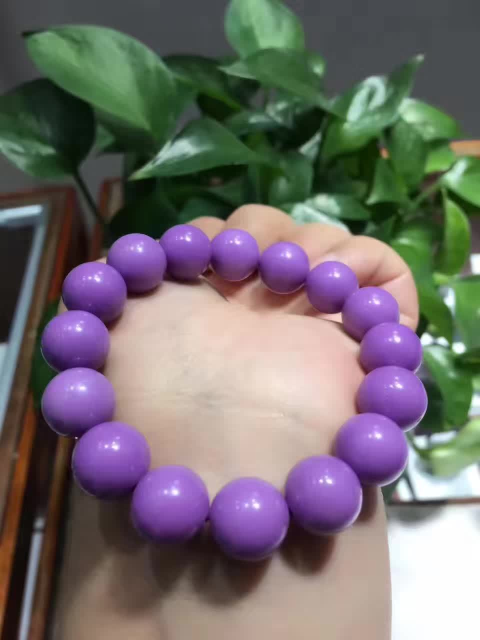 Genuine Natural Purple Phosphosiderite Gemstone Round Bead Stretch Crystal Bracelets Women Female AAAAAGenuine Natural Purple Phosphosiderite Gemstone Round Bead Stretch Crystal Bracelets Women Female AAAAA