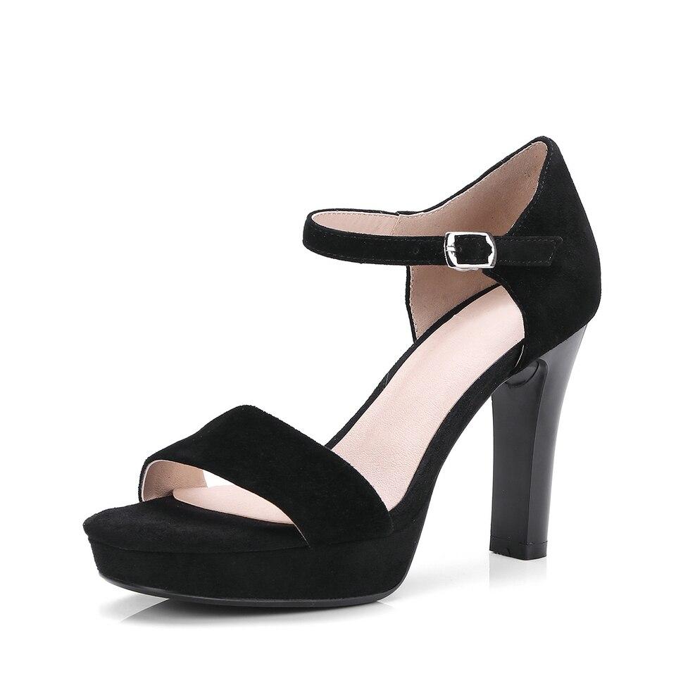 Talon Bride Noir Taille Eshtonshero Chaussures Femmes Noir D'été Dames 9 3 Haut Cheville Plate À En Sandales Mariage La forme Daim Vache Femme apricot Carré De SSZ0nqw1