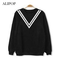 Youpop KPOP BTS Bangtan Boys Album Hoodie K POP Stripe College Hoodies Clothes Pullover Printed Long