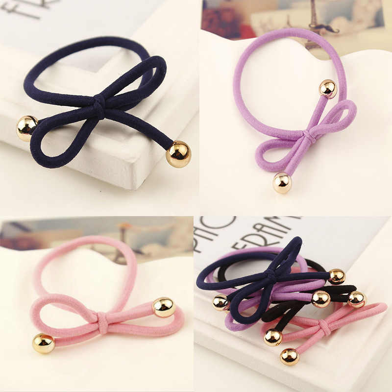 2018 Braided Bow Elastic Rubber Bands Headwear Women Girl Elastic Hair Band Women Hair Accessories