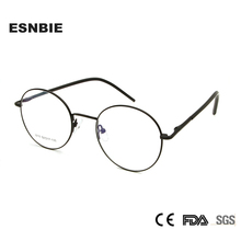 ESNBIE Ultralight Round Woman Eyeglass Optical Frame Glass Men Medium Vintage Eyewear Oprawki Okularowe Damskie