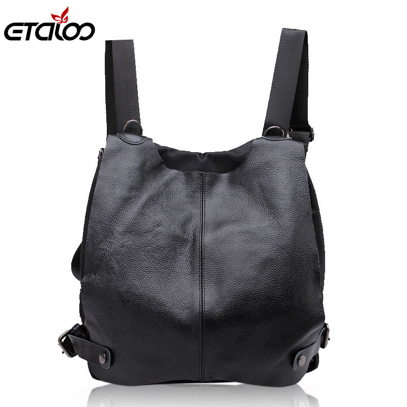 Women general leather backpack student flashes shoulder bag high quality bag