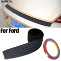 For Ford Focus 2 3 Fiesta Mondeo Ecosport Explorer Car Styling Black Rubber Rear Guard Bumper Protector Trim cover Accessories
