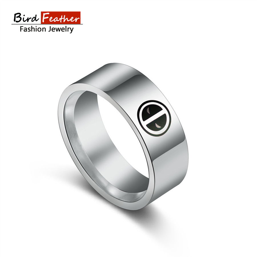 2017 New Arrival Cutedeadpool Wedding Ring For Men Woman Silvercolor  Stainless Steel