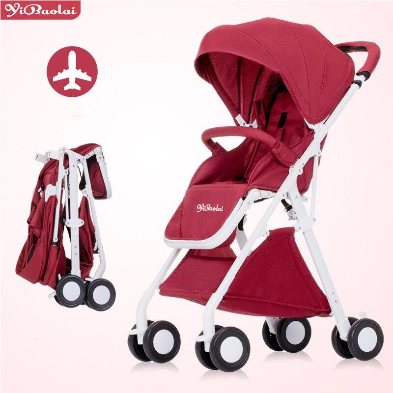 купить Lightweight baby stroller 5.1 KG folding baby stroller can be on the plane 6 color 0-4 year old baby pram по цене 12333.39 рублей