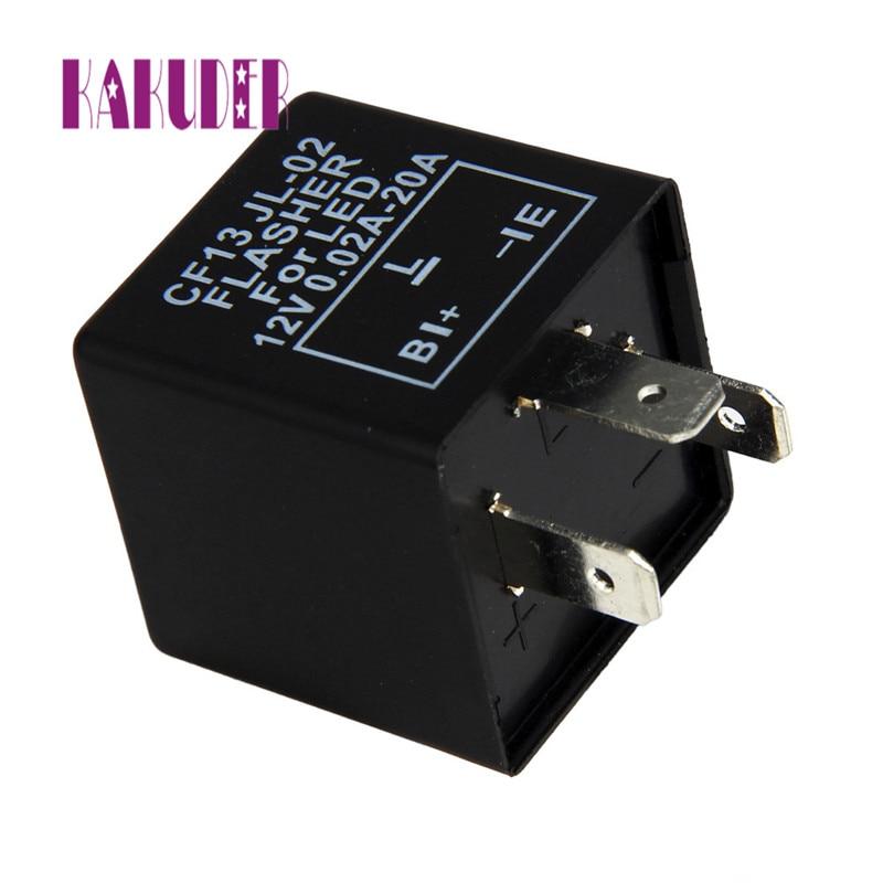 3Pin Car Flasher Relay Fix LED Light Turn Signal Hyper Flash CF13 CF13JL-02 EP34 car Relay may22