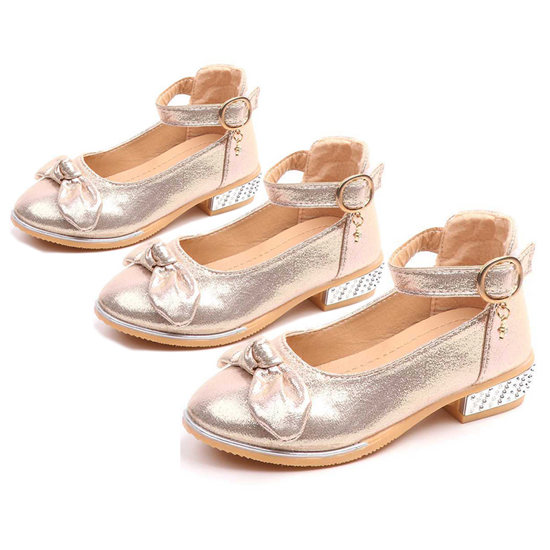 Detail Feedback Questions about Kids Flower Children Little Girl High Heels  Gold Silver Dress Shoes For Girls School Wedding And Party Prinses Shoes  New ... 6cf410bd16a5