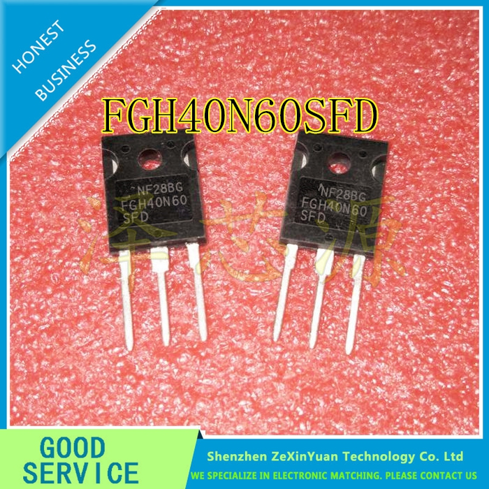 10PCS/LOT FGH40N60SFD FGH40N60 40N60 IGBT 600V 80A 290W TO-247 BEST QUALITY