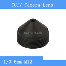 Factory direct surveillance infrared camera pinhole lens 6mm M12 thread CCTV lens