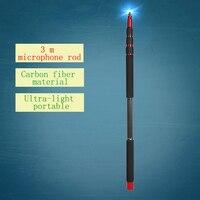 Jieyang JY100C carbon fiber professional boompole Boom microphone bucket rod hanging rod boom pole 3 m Tube can wear