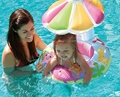 Bebé Infantil Flor Parasol Float Asiento de Soporte de Anillo de Natación Piscina de Ayuda