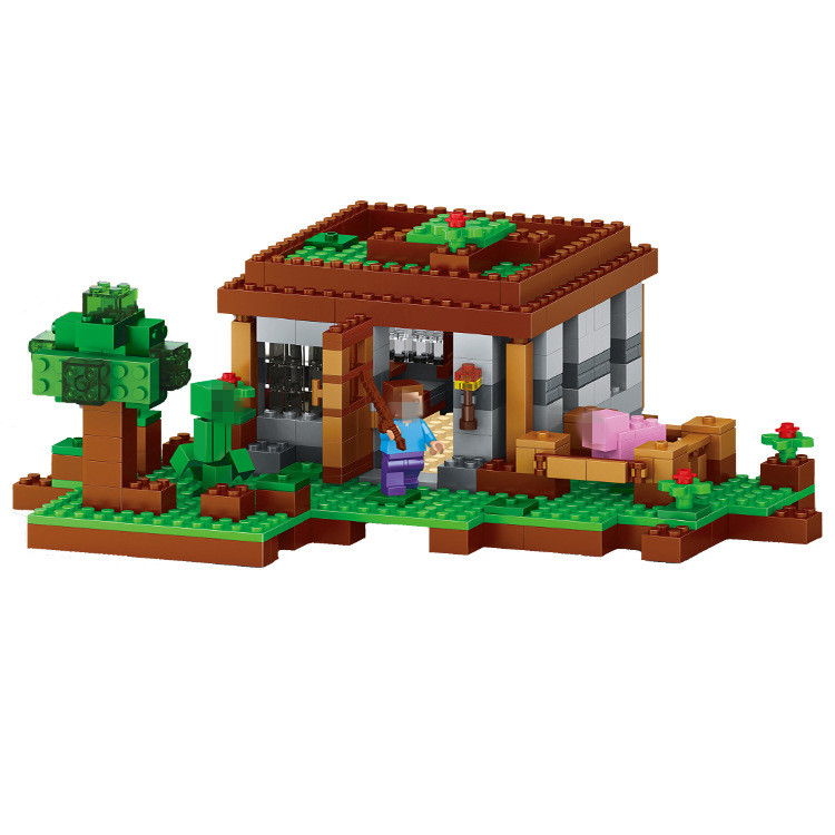 LELE The First Night Building Blocks Sets Bricks My worlds Movie Model Kids Minecrafted Toys For Children Compatible Legoe