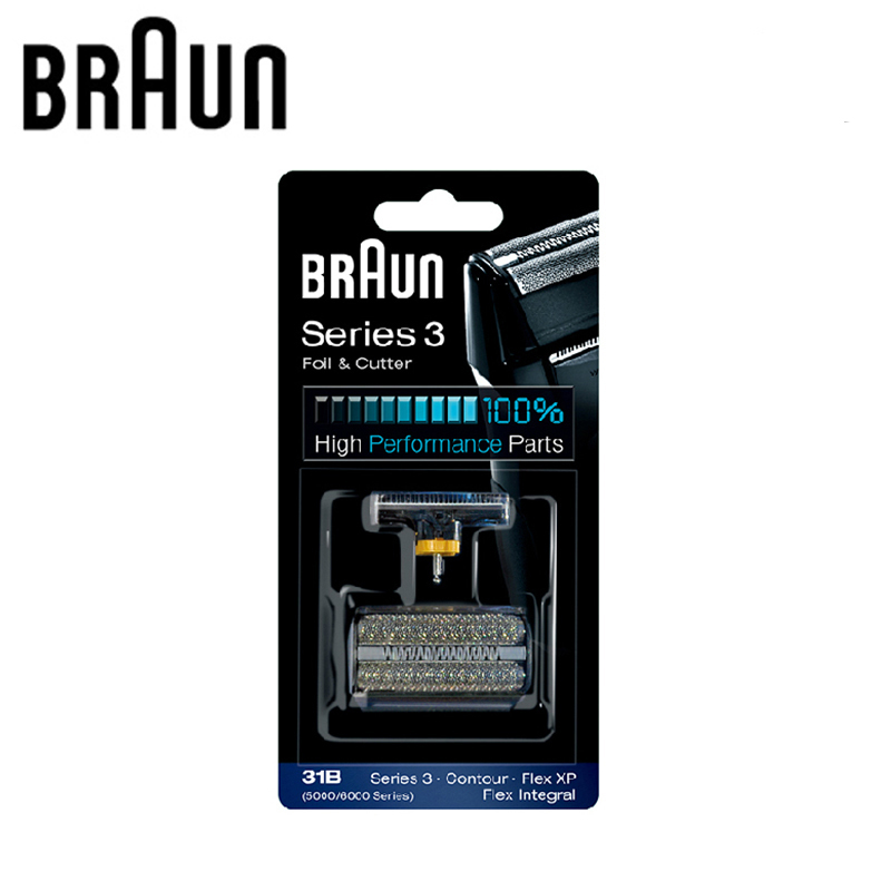 Braun Electric Shaver Blade Head Replacement 31B (5000/6000series)  For 3 Series Shavers (5610 5612 Old 350 360 370 380 390CC)