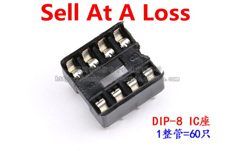 Free Shipping 60pcsLot 8Pin DIP SIP IC Sockets Adaptor Solder Type 8 PIN