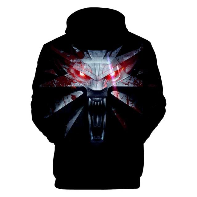 2018 hit Hot Game 3D The Witcher 3 cotton Hoodies sweatshirts Men Women Couple Sweatshirt Harajuku long sleeve Cool Pullovers 3