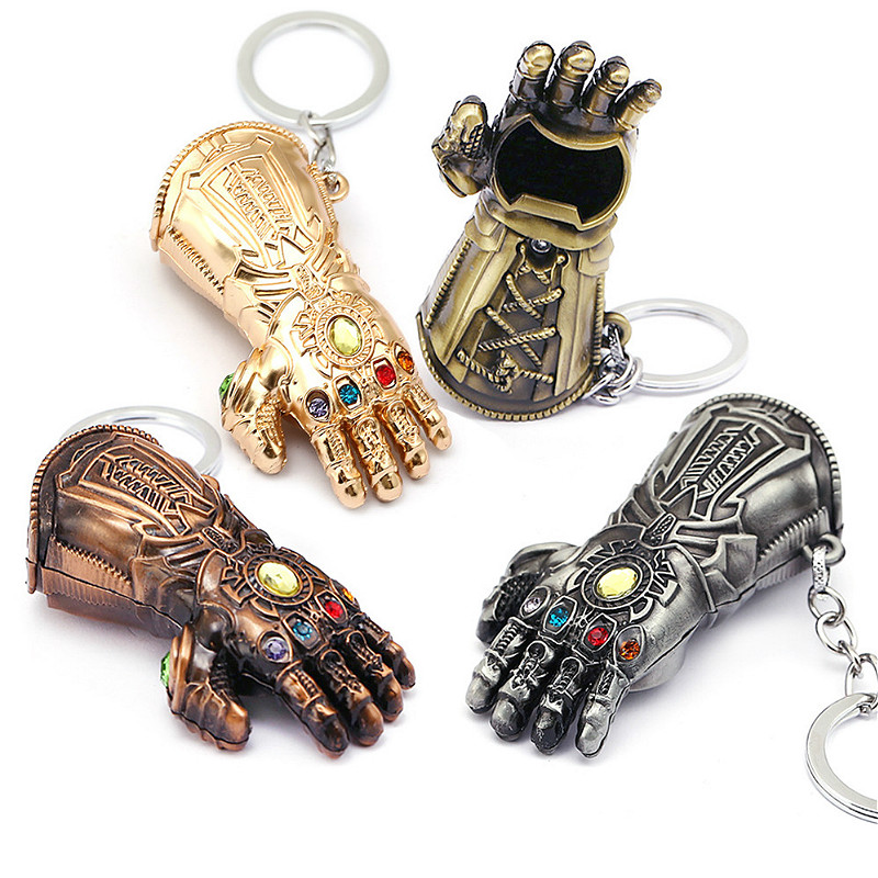 Portable Infinity Gloves Bottle Opener Beer Bottle Opener Keychain Gadget Cartoon Bar Party Barbecue Kitchen Tool Boyfriend Gift