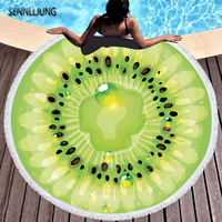 superfine fiber Round Beach Towel 150*150cm Pool Bath Towel orange watermelon tomato Fruit Printed Bath Towel Summer Beach Cover
