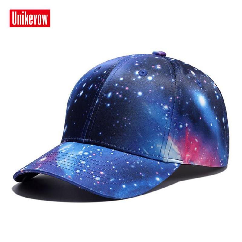 UNIKEVOW pavisam jauni 3D zvaigžņu digitālās drukāšanas beisbola cepurīši vīriešiem un sievietēm Blue Star Hat Outdorr Sports brīvdienu cepure