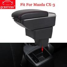 QCBXYYXH Автомобильный дизайн ABS автомобиль подлокотник окно центральной консоли коробка для хранения держатель дело украшения авто аксессуары подходят для Mazda CX-3