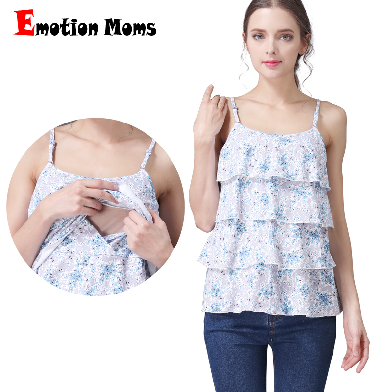 Emotion Moms Summer Maternity Vest Top Nursing Tank Top pregnancy Tank for Pregnant Women Breastfeeding clothes Camis S-XXL