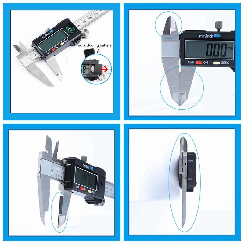 Электронный Нержавеющаясталь суппорты цифровой штангенциркуль 0-150 мм 0,01 мм Микрометр Paquimetro Messschieber ЖК-дисплей измерительный инструмент