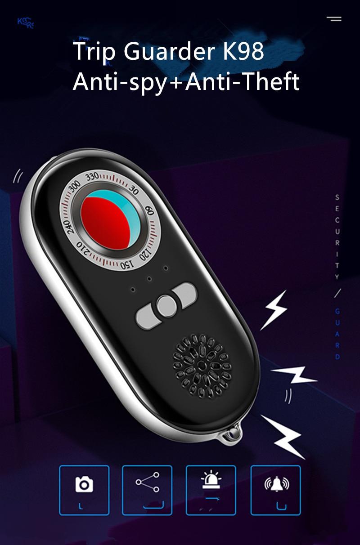 finder + anti-roubo dispositivo de alarme para viagens seguro k98