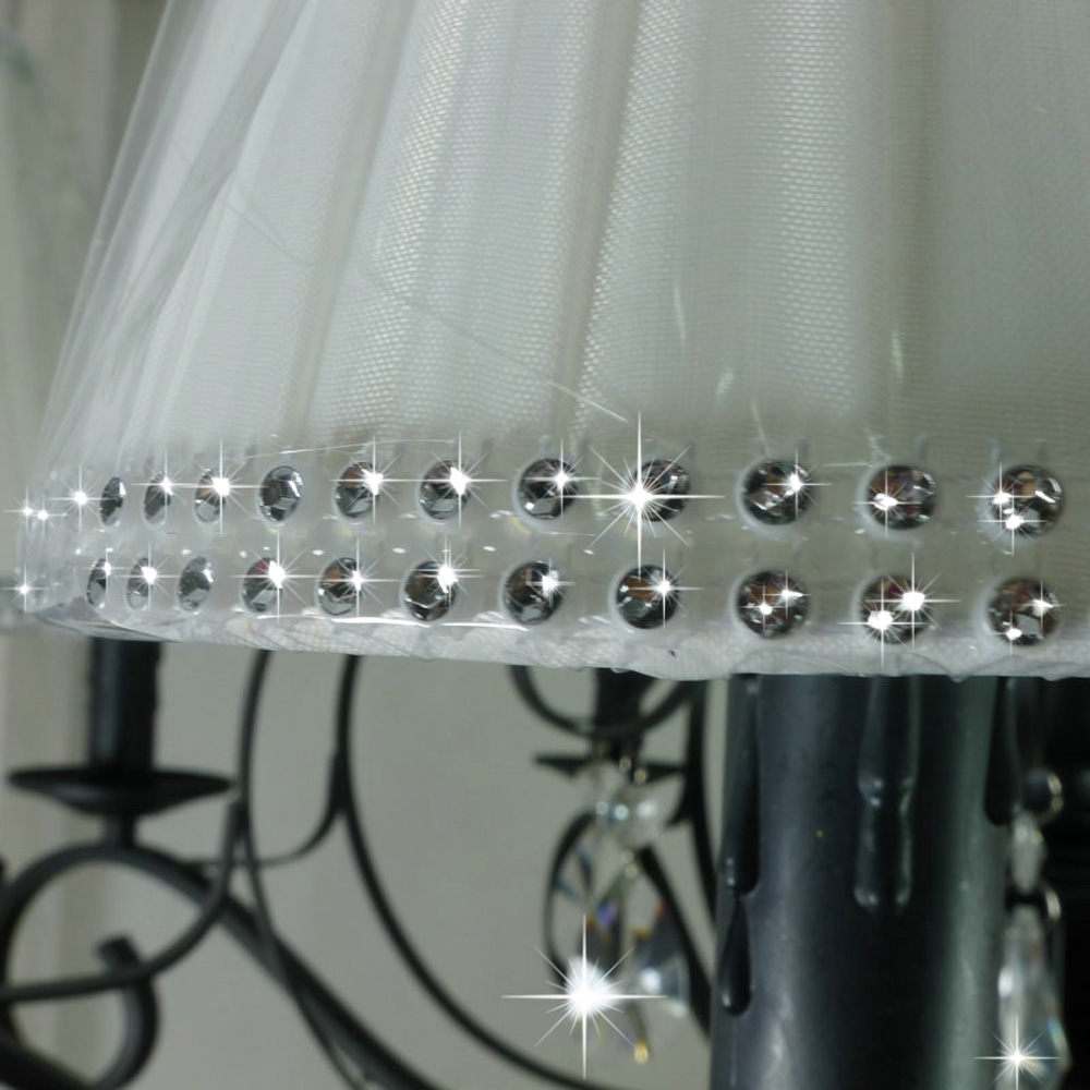 Nordic Vintage Crystal Chandelier with Shade 110V/220v LED Bulb E14 Loft Lamps Modern Dining Room Chandeliers Suppliers