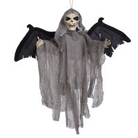 Sound Control Creepy Scary Animated Skeleton Ghost Halloween Party Decoration Mask Halloween 30 2017 Hot Sale
