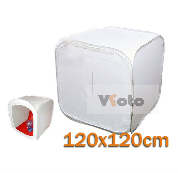 120cm/48 inchlarge Softbox Light Tent Cube Photography tent Photo Studio Shooting Soft Box + 4 Color Backdrops carrying bag - VFoto-Photographic Accessories store