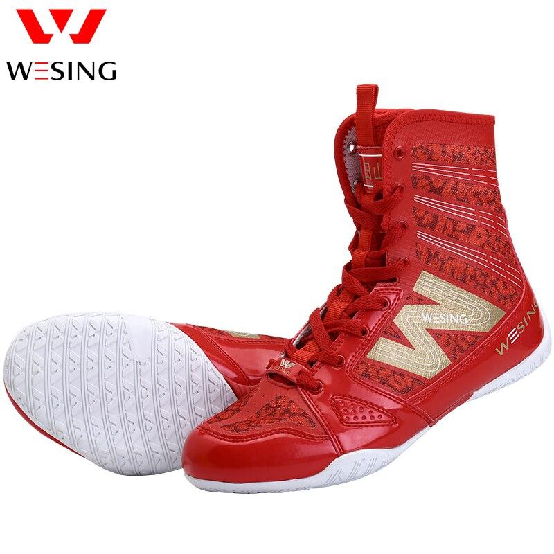 Haute Qualité noir de boxe chaussures hommes femmes formation chaussures sport sneakers professionnel art Martial MMA Grappling boxe chaussures