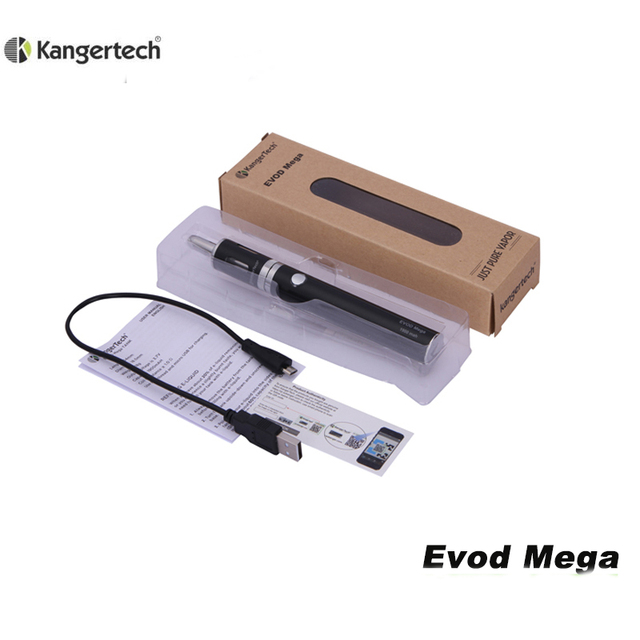 Original Kangertech Electronic Cigarette Kits Kanger Evod Mega metal 2.5ml 1900mah battery with micro usb cable dripbox diy kit