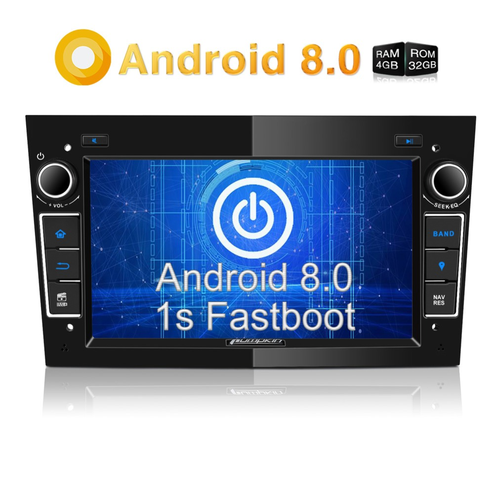 Pumpkin2 Din7''Android 8.0 Car Radio No DVD Player GPS Navigation 4GB RAM Wifi Octa-core Car Stereo Audio For Opel/Vectra/Astra