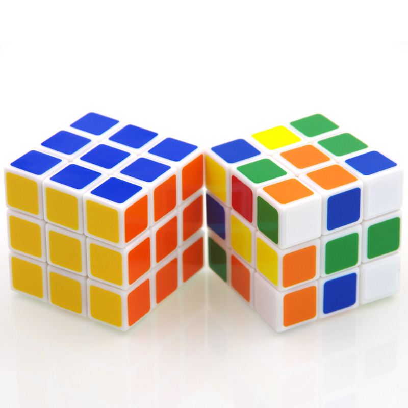 60mm Classic Magic Toys Cube3x3x3 PVC Sticker Block Puzzle Speed Cube Colorful Learning Educational Puzzle Cubo