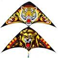 Envío de la alta calidad los niños tigre león kite10pcs/lot con la línea de mango al aire libre juguetes voladores 3 dkite nylon ripstop kite surf