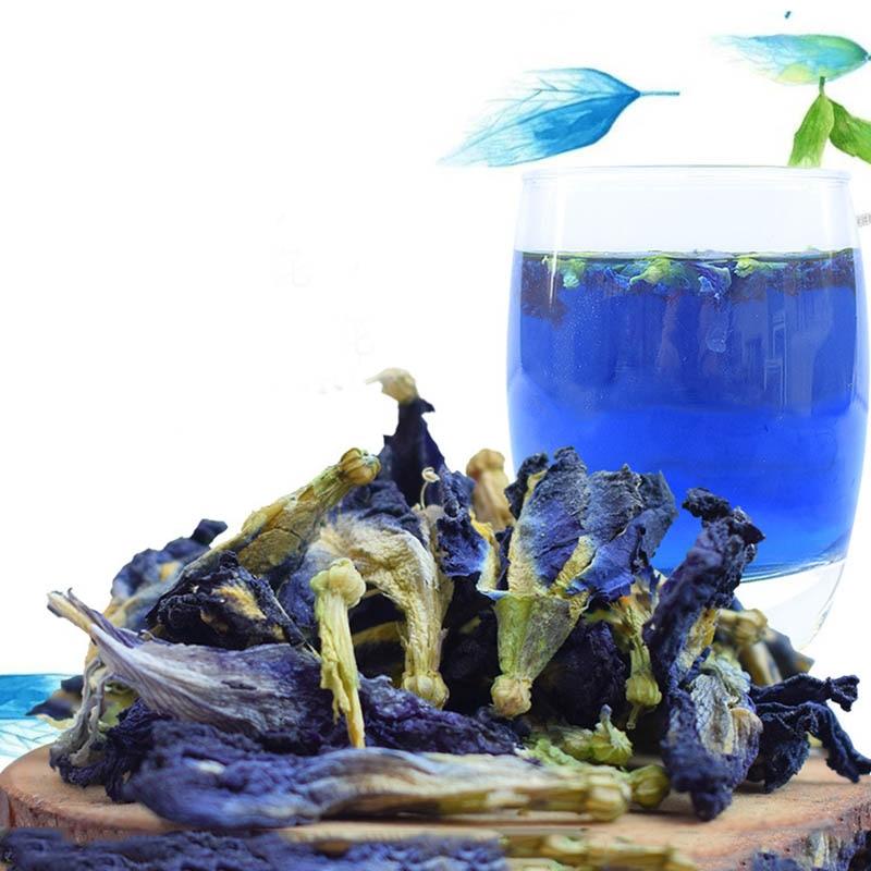 1bag 100g 1500g Clitoria Ternatea dry flower kitchen toy thailand Blue Butterfly Pea tea simulation play