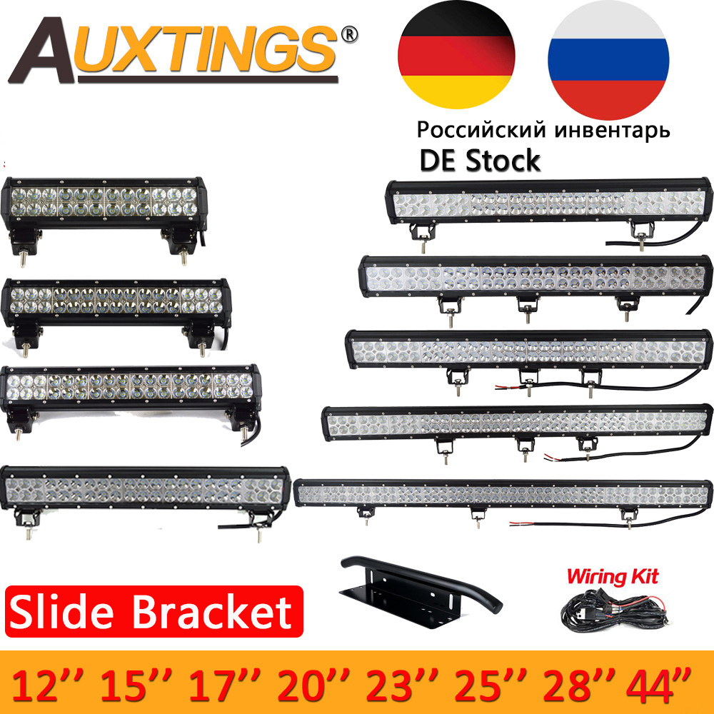 Auxtings 12 ''17'' 20''23'' 28' 36 ''44''126W 144 watt Zoll offroad led licht bar 12 v 24 v led Arbeit Licht für Jeep 4WD Lkw 4x4 SUV