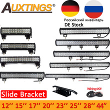 """Auxtings 12"""" 17"""" 20""""23"""" 28′ 36"""" 44""""126W 144W Inch offroad led light bar 12V 24V led  Work Light for Jeep 4WD Truck 4×4 SUV"""