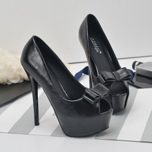 Korean Sexy Pumps Shoes 2017 Spring New High-Heels Waterproof Fish Head Bow Nightclub Sexy Pumps Shoes