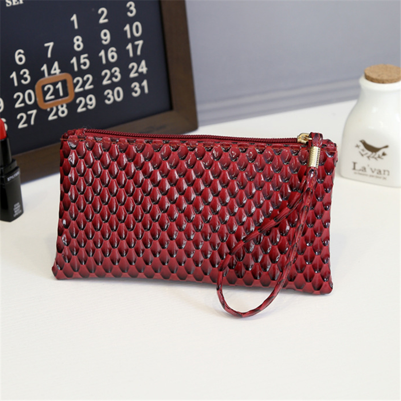 New 2018 Coin Purse Fashion Brand Design Women Bags Wristlet Cute Small girls long Clutch and Handbags Phone Top PU Leather trendy women s coin purse with owl print and pu leather design