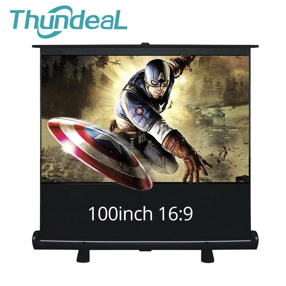 ThundeaL 100 pouces 16:9 écran de Projection HD étage Up Stand Home cinéma bureau salle de réunion extérieur étage projecteur écran 100