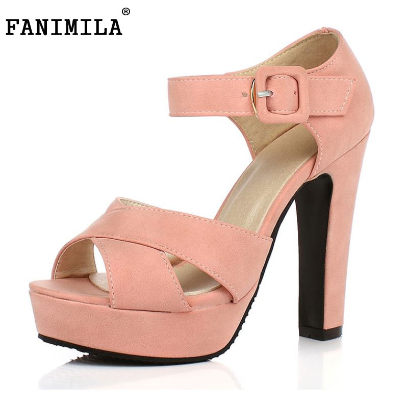 Women Sandals New Summer Peep Toe Ankle Strap Thick High Heel Sandals Platform High Quality Casual Fashion Shoes Size 31-43 new arrival summer shoes wrap open toe fashion women ankle strap sandals thick heel platform women sandals size 34 43 pa00776