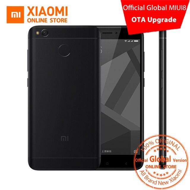 Глобальный Версия Xiaomi Редми 4X Смартфон 3 ГБ RAM 32 ГБ Snapdragon 435 Octa Core CPU Adreno 505 GPU 4100 мАч 13MP Камера MIUI8.1