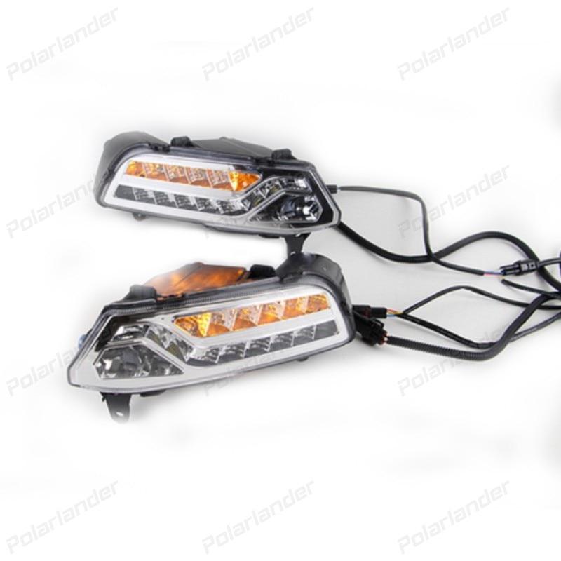 2 pcs Auto accessories Daylight Led DRL Daytime Running lights for V/olkswagen P/olo 2014-2015 fog lamp