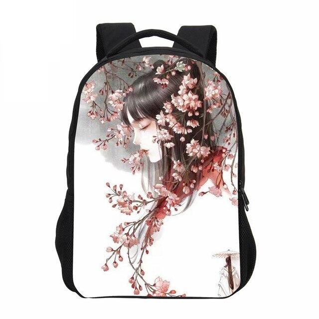 fa2994107b53 VEEVANV 3D Cartoon Women Backpack School Backpack Girls Chinese Anime  Printing Shoulder Bag Fashion Children Mochila Boy Bookbag