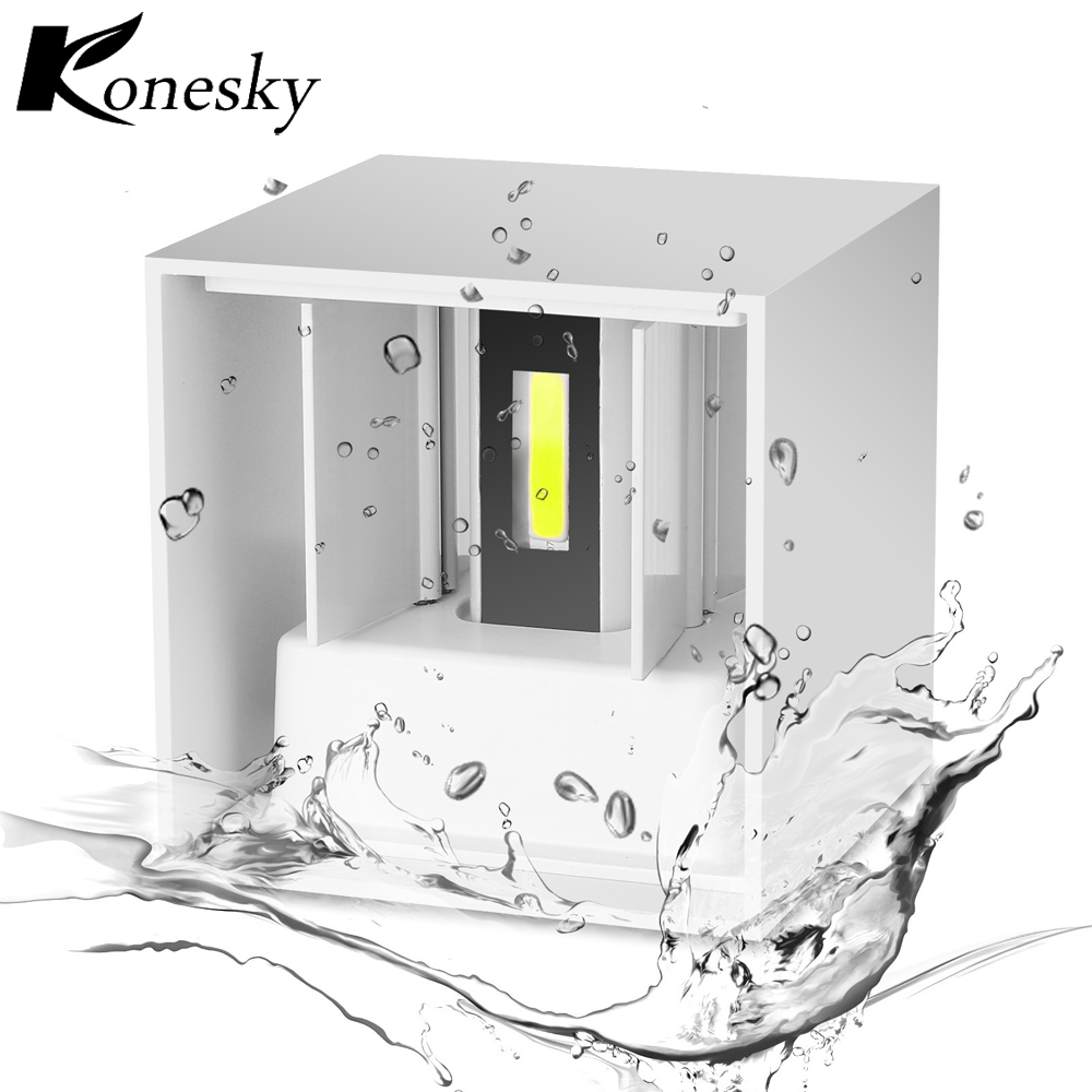 Led Lamps Amicable Konesky Waterproof Ip65 7w Aluminum Cube Cob Led Wall Lamp Light Modern Home Lighting Indoor Outdoor Decoration Ac 110-220v