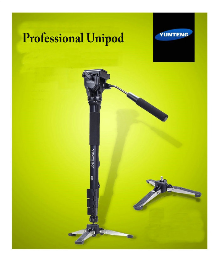 Professional 288 Monopod tripod + Fluid Pan Head + Unipod Holder For SLR Cameras DV Nikon Canon Sony Fuji