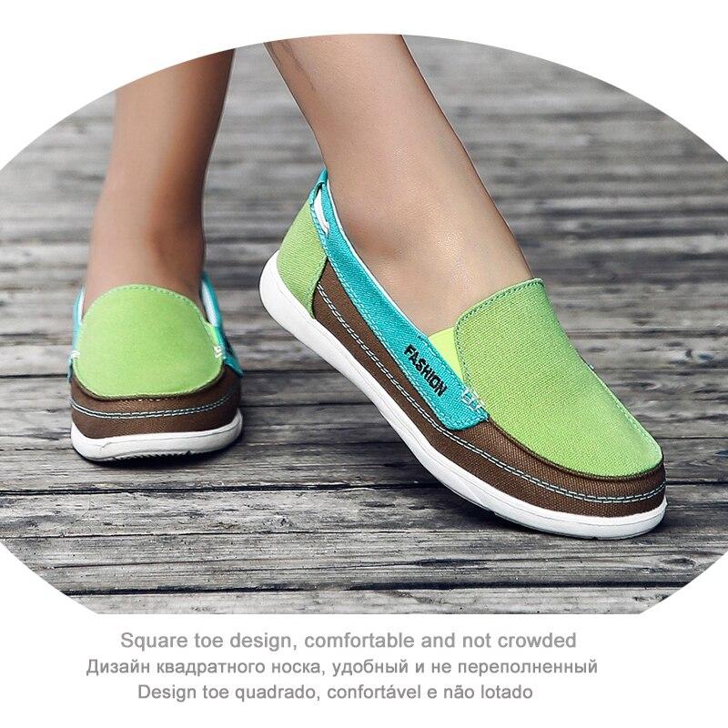 Women Canvas Shoes Women Flats Fashion