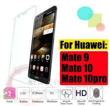 2Pcs/lot Full Tempered Glass For Huawei Mate 9 10 Pro Screen Protector Lite Explosion-proof for huawei  pro