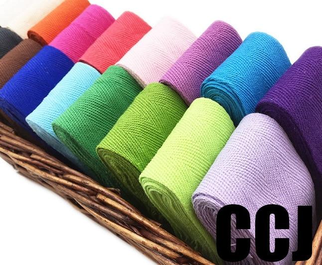 50 мм x 50 ярдов хлопчатобумажная тесьма плетение елочка саржа фартук швейная лента полоса переплетения